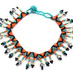 Turquoise/Orange/Black