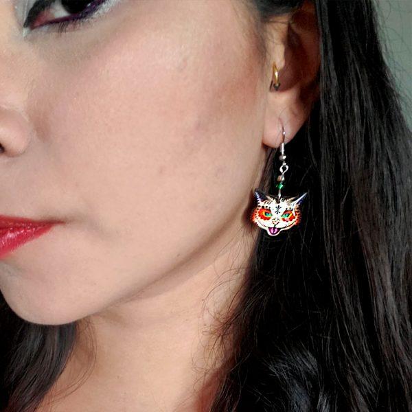 Mia Jewel Shop: Tribal Sugar Cat Face Earrings