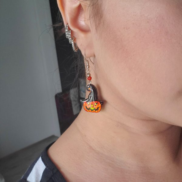 Mia Jewel Shop: Halloween Jack O' Lantern Pumpkin Earrings