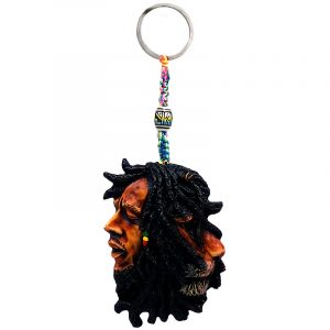 Handade durepox resin figurine keychain of Bob connected to a lion.