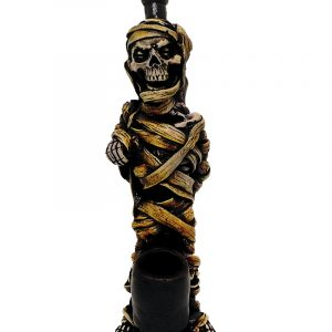 Handcrafted medium-sized tobacco smoking hand pipe of a classic Egyptian wrapped mummy.